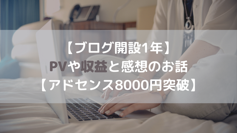 ブログ 1年 PV 収益